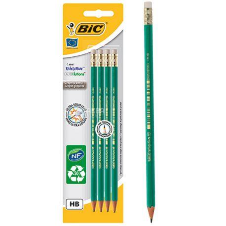 Bic Evolution НВ, Набор простых карандашей шестиугольных, 4 шт.