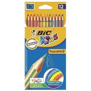 Bic, 12 pcs., A set of colored pencils hexagonal, Tropicolors 2