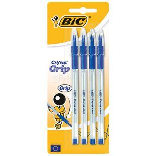 Bic, 4 шт., Набір синіх ручок, Cristal Grup