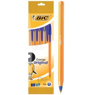Bic, 4 шт., Набір синіх ручок, Orange
