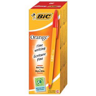 Bic, 20 шт., Набір червоних ручок, Orange