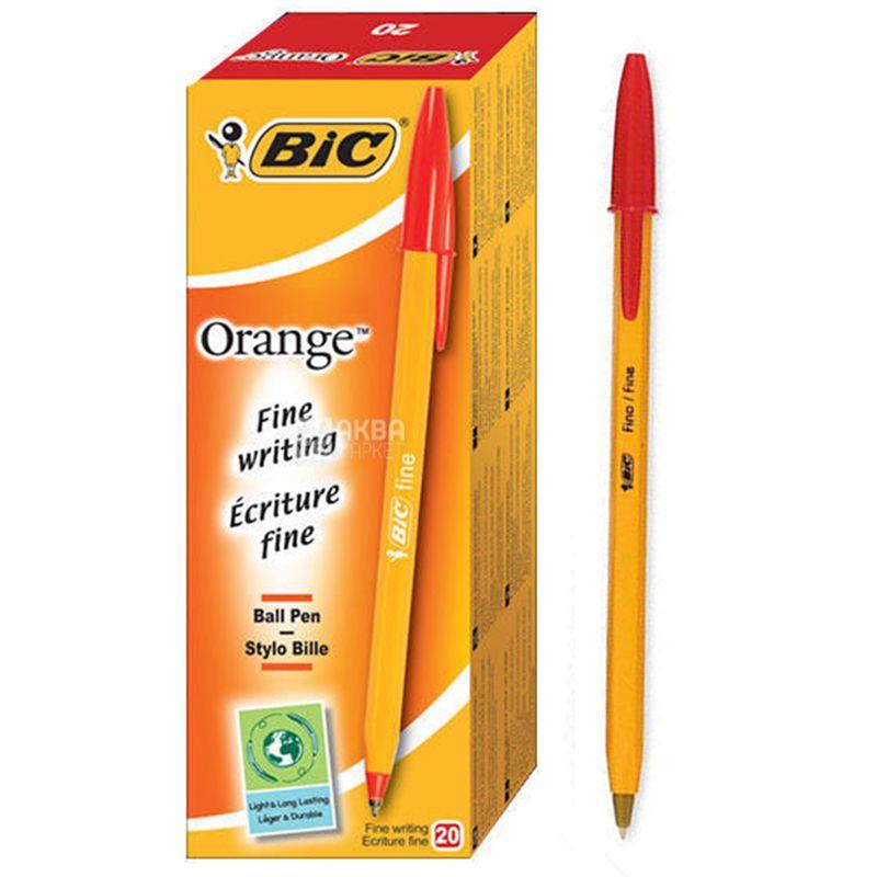 Bic, 20 шт., Набор красных ручек, Orange