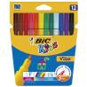 Bic Visa, Фломастеры Бик, цветные, 12 шт.