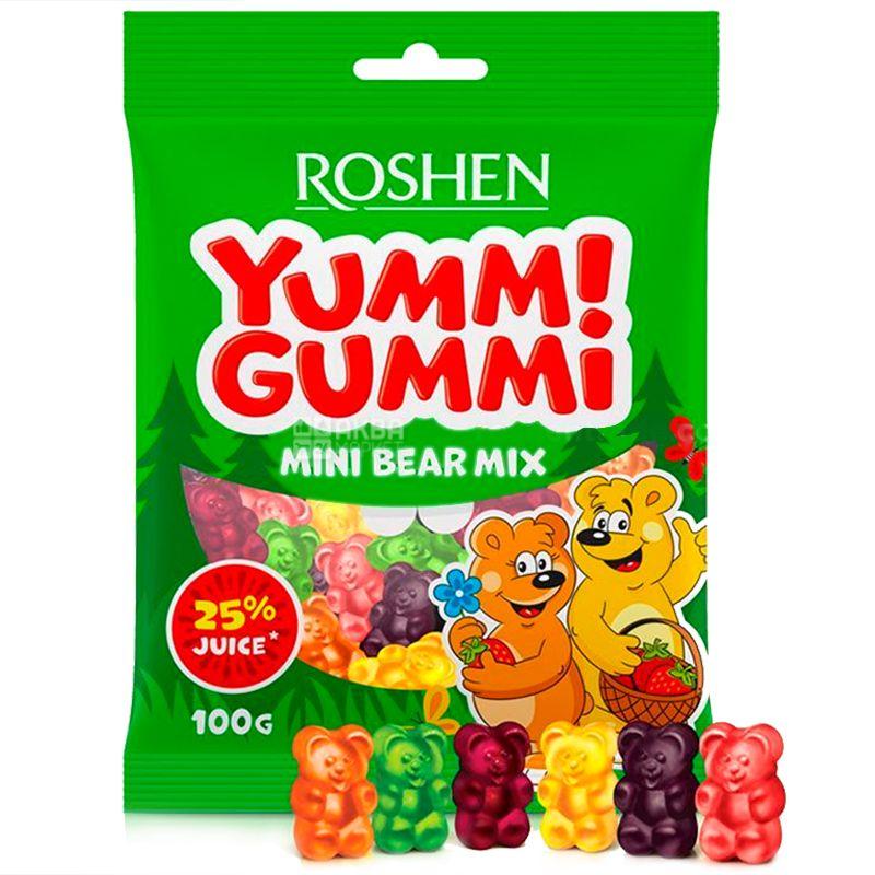 Roshen, 100 г, Желейные конфеты, С фруктовым соком, Ямми Гамми