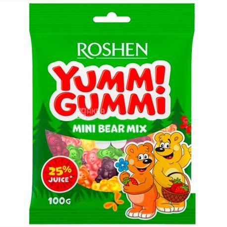 Roshen, 100 г, Желейні цукерки, З фруктовим соком, Яммі Гаммі