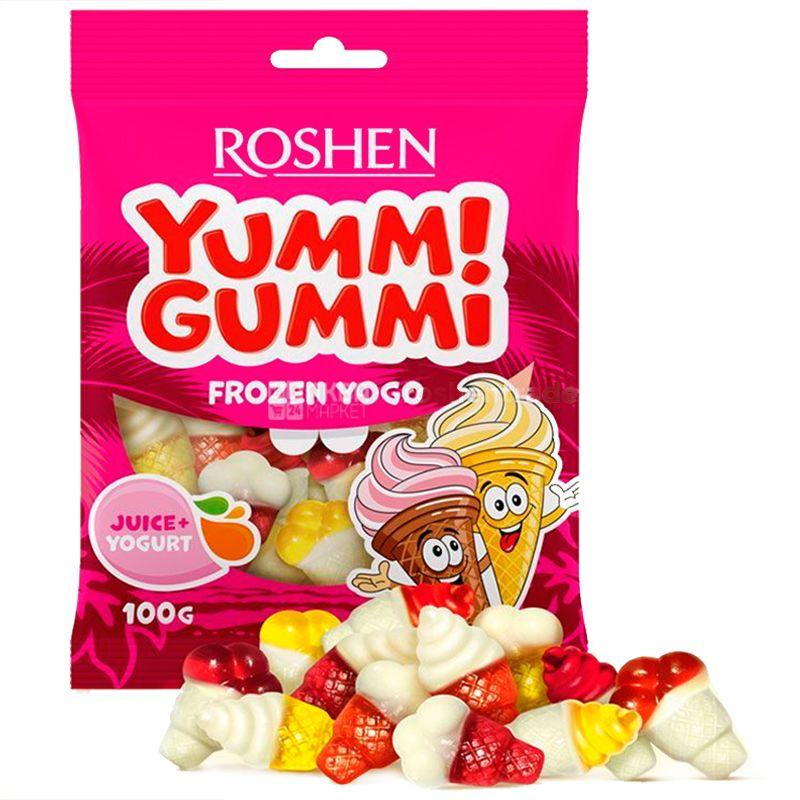 Roshen, 100 г, Желейные конфеты, С фруктовым соком и йогуртом