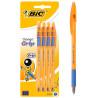 Bic, 4 шт., Набір синіх ручок, Orange grip