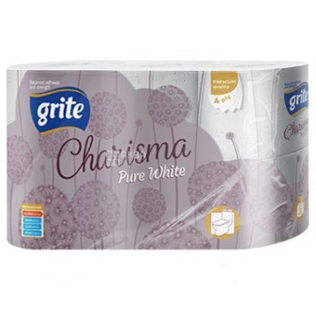 Grite Charisma, 6 рул., Туалетная бумага Грите Харизма, 4-х слойная