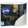 Grite Orchidea Gold, 4 рул., Туалетная бумага Грите Орхидея Голд, 3-х слойная