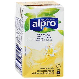Alpro, Soya Vanilla, 250 мл, Алпро, Соевое молоко с ванилью, витаминизированное