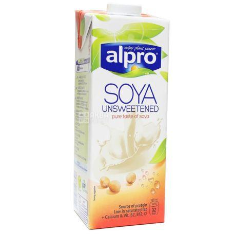 Alpro, Soya Unsweetened, 1 л, Алпро, Соевое молоко, без сахара и лактозы, витаминизированное