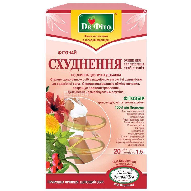 Dr  Phyto Detox, 20 pcs , Tea, Slimming-cleansing, burning