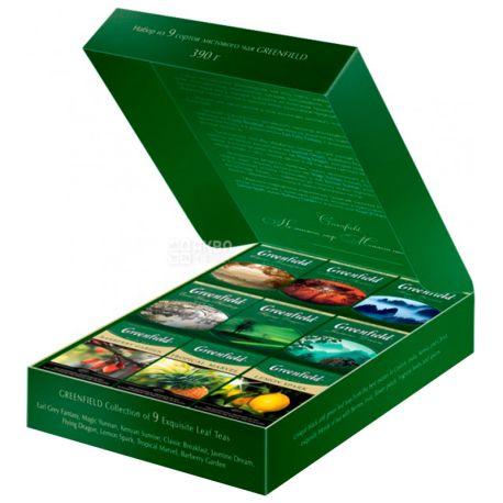 Greenfield, Premium tea, 9 видов по 40 г, Гринфилд, Набор чая, Подарочный