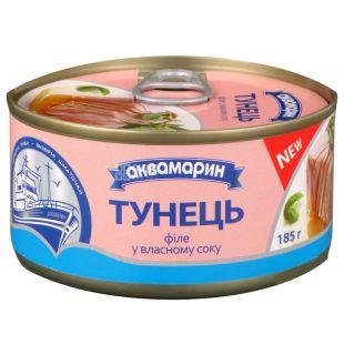 Aquamarine, 185 g, Tuna fillet, In oil