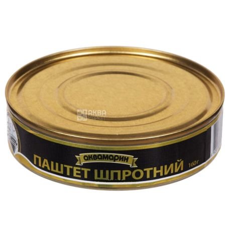 Аквамарин, 160 г, Паштет, Шпротний