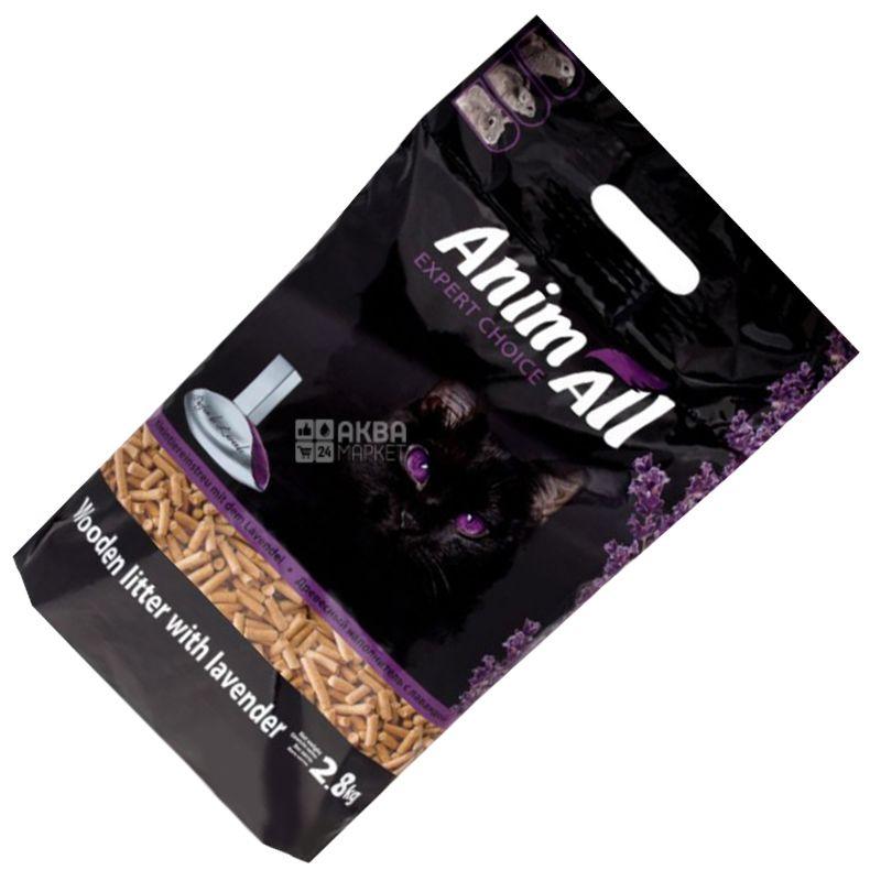 AnimAll, 2,8 кг, Наполнитель древесный, С лавандой