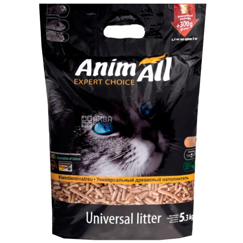 AnimAll, 5,3 кг, Наповнювач деревний