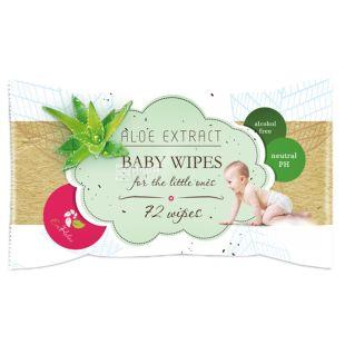 ECORelax Aloe Extract Baby, 72 шт., Салфетки влажные Экорелакс, Детские, с Экстрактом Алоэ, для ухода за кожей