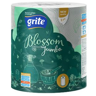 Grite Blossom Jumbo, 1 рул., Бумажные полотенца Грите Джамбо, 2-х слойные, 400 отрывов