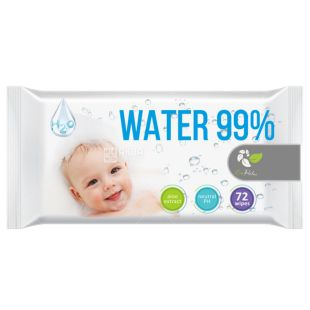 ECORelax, 72 pcs., Wet wipes, Water 99%