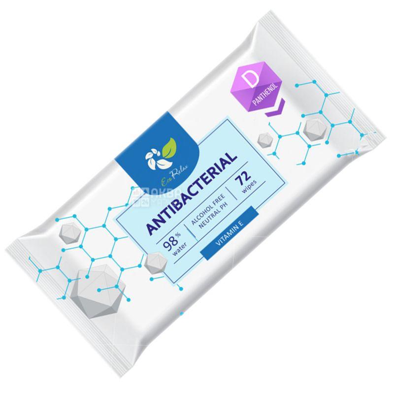 ECORelax, 72 pcs., Wet Wipes, Antibacterial