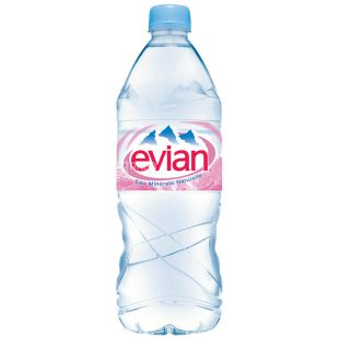 Evian 1 л, Негазована вода, ПЕТ