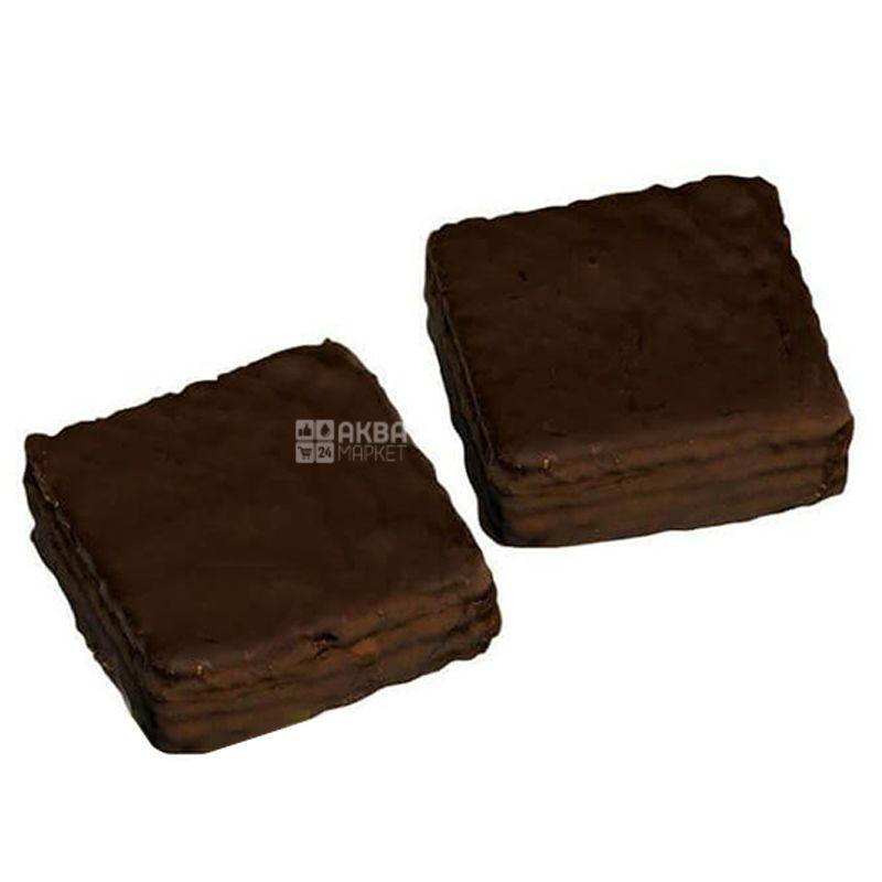 Dr.Schar, 40 г, Вафлі, З какао в темному шоколаді, Quadritos