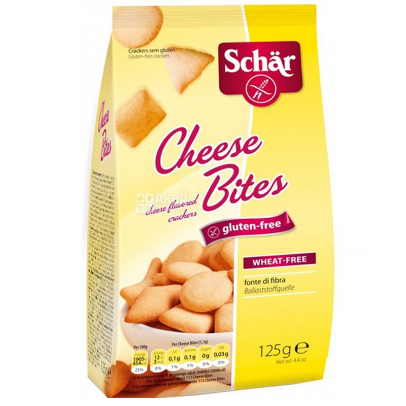 Dr.Schar, 125 г, Крекери, Зі смаком сиру