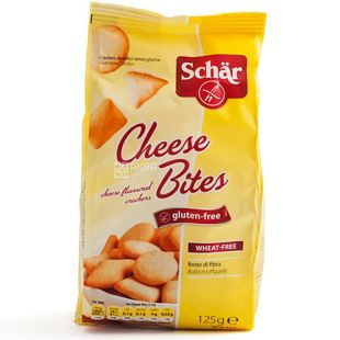Dr.Schar, 125 g, Gluten-Free Cracker, Cheese Flavored
