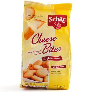 Dr.Schar, 125 г, Крекер безглютеновый, Со вкусом сыра