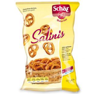 Dr.Schar, 60 г, Крендели безлактозные соленые, Salinis
