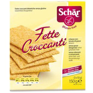 Dr.Schar, 150 g, Breads, Gluten free, Fette Croccanti