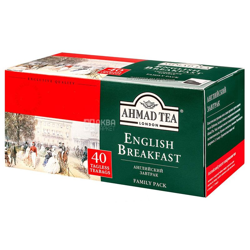 Ahmad Tea English Breakfeast, 40 пак, Чай чорний Ахмад Ті Інгліш Брекфаст