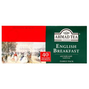 Ahmad Tea English Breakfeast, 40 пак, Чай черный Ахмад Ти Инглиш Брекфаст