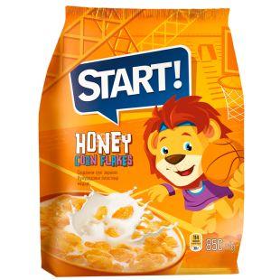 Start, 850 г, Хлопья Старт, кукурузные, медовые, глазированные, сухой завтрак для детей от 6-ти лет