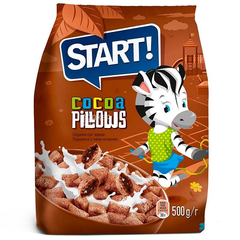 Start, 500 г, Подушечки, С какао начинкой