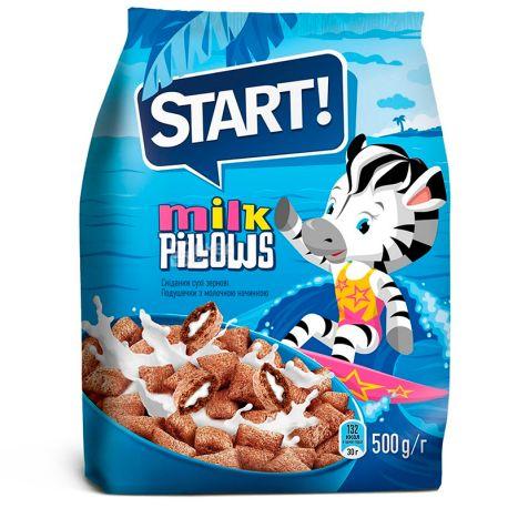 Start, 500 г, Подушечки, З молочною начинкою