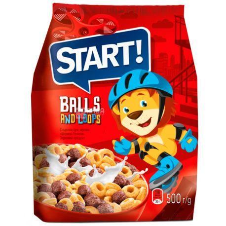 Start, 500 г, Готовий сніданок, Кульки - Ролики