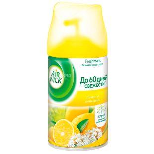 Air Wick, 250 мл, Освежитель воздуха, Лимон и женьшень, Сменный баллон