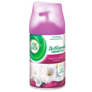 Air Wick, 250 ml, Air freshener, Tenderness of silk and lily, Replacement bottle