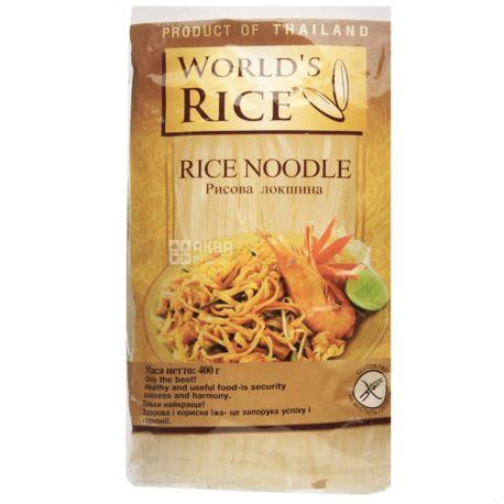 World's Rice, 400 г, Лапша рисовая