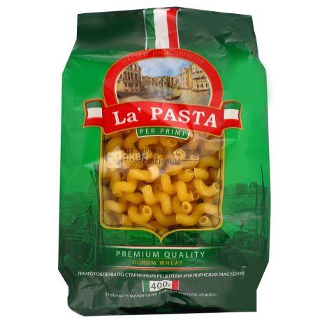 La Pasta, 400 г, Макарони, Ріжки