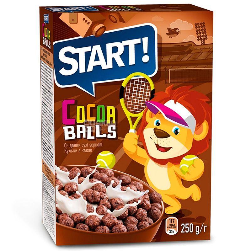 Start, 250 г, Сухой завтрак, Шарики с какао