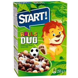 Start, 250 г, Сухой завтрак, Шарики DUO
