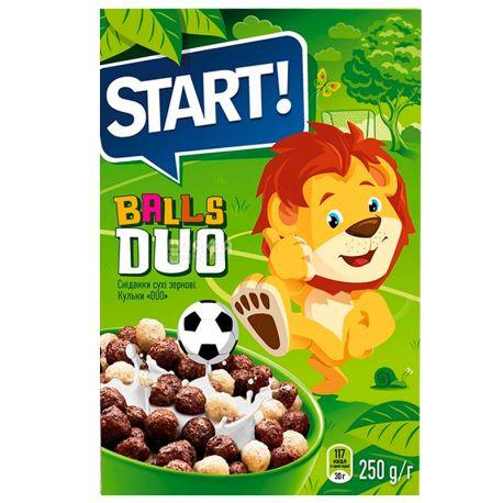 Start, 250 г, Сухий сніданок, Кульки DUO