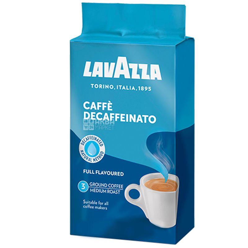 Lavazza, Decaffeinato, 250 г, Кофе Лавацца, Декаффеинато, средней обжарки, молотый без кофеина