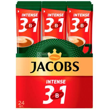 Jacobs Intense 3 в 1, Кофейный напиток в стиках,  24 шт. по 13 г