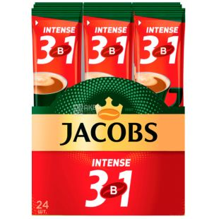 Jacobs Intense 3 in 1, Coffee drink in sticks, 24 pcs. on 13 g