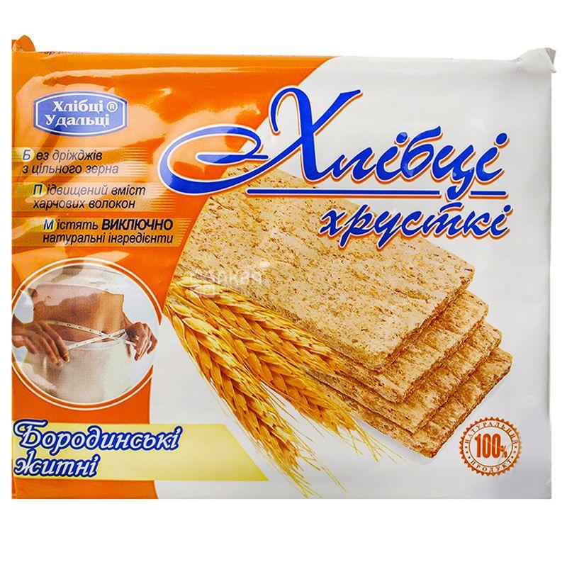 Хлібці-Удальці, 100 г, Хлібці, Бородинські, Житні