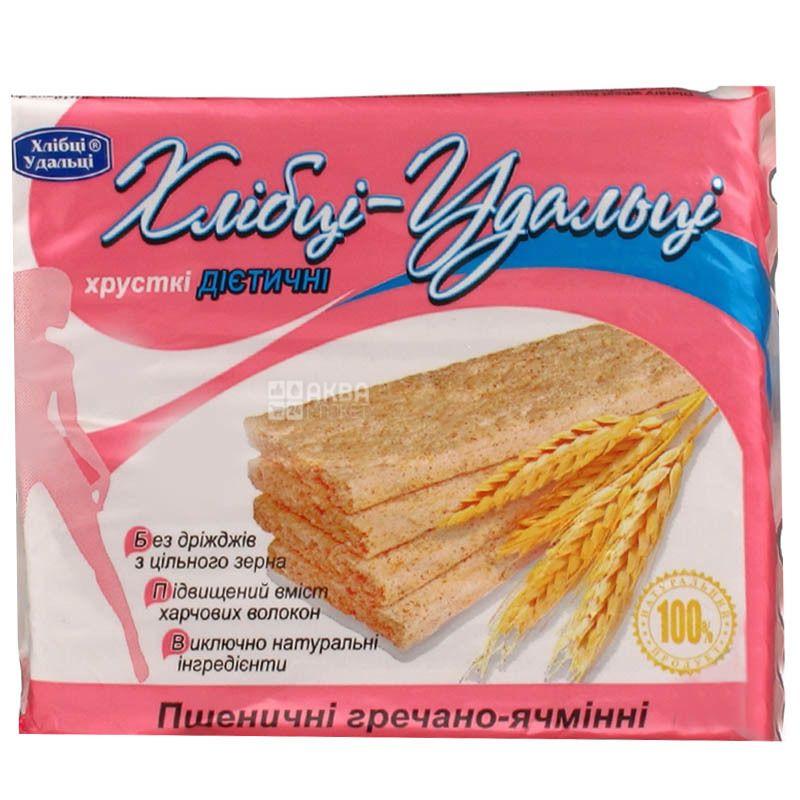 Хлібці-Удальці, 100 г, Хлібці, Пшенично-гречаної-ячмінні